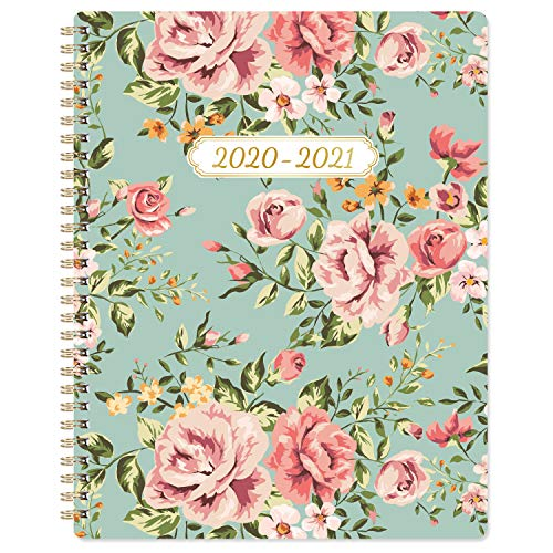 2020-2021 Planner - Weekly and Monthly Planner 8'' x 10'', Flexible Blossom Cover, Check Boxes, to-Do List, Strong Twin-Wire-O Binding, Writing in Fresh Air