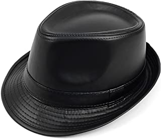 leather fedora hat