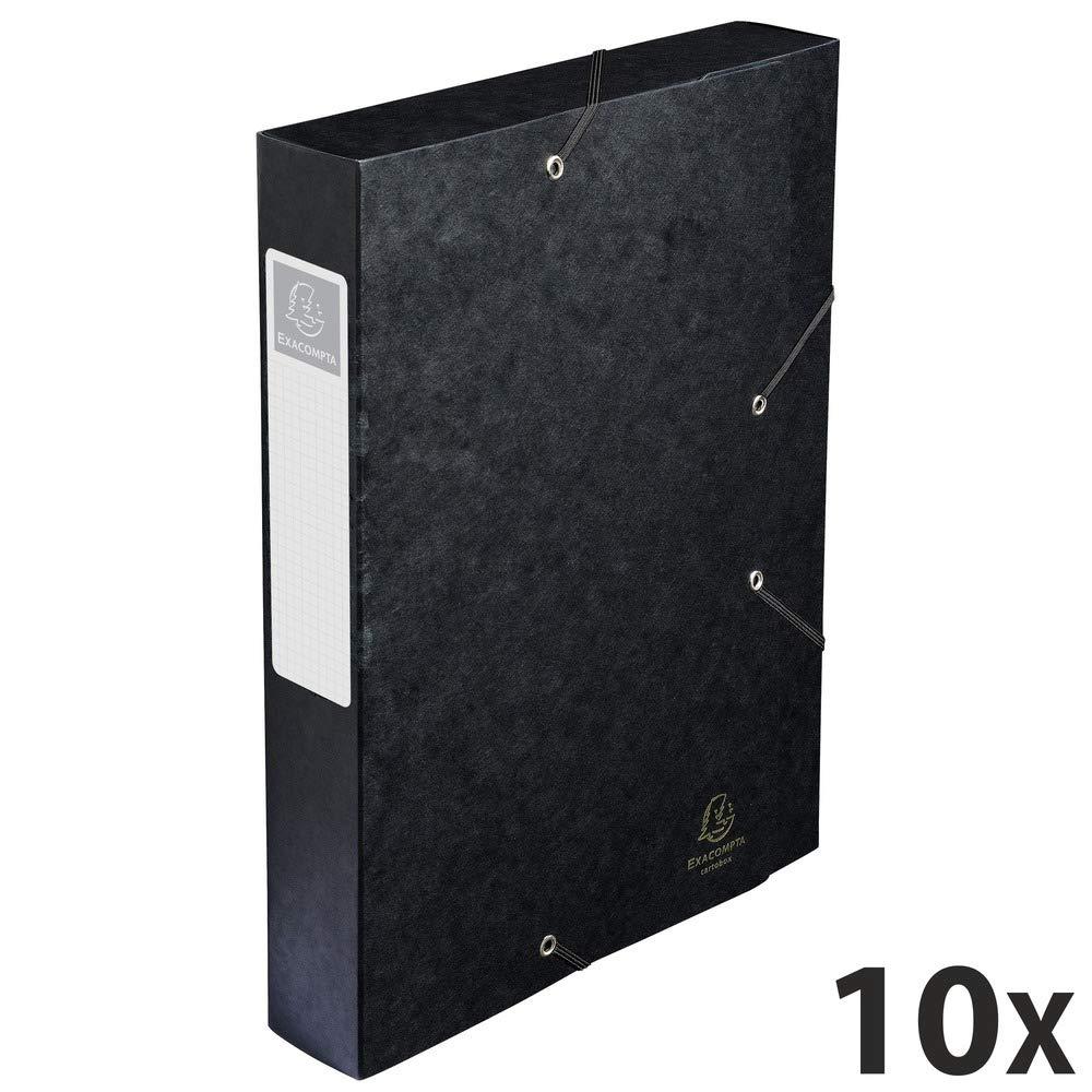 Exacompta Cartobox - Caja de cartón (24 x 32 cm, 10 unidades), negro: Exacompta: Amazon.es: Oficina y papelería
