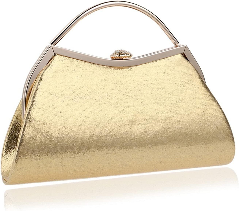 Evening Clutch Bag Elegant Evening Bag Banquet Clutch Handbag Women Shoulder Bag Wedding Party Bag (Color : Gold, Size : Small)