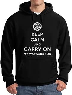 TeeStars - Keep Calm and Carry On My Wayward Son Hoodie