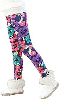 Uncle Lee, Mallas Leggings Pantalones Térmicos para Niñas Invierno Forro Polar Gruesos