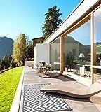 Green Decore 150 x 240 cm Wendbarer Öko-Teppich aus recyceltem Kunststoff (Plastik) für Innen und Außen/Federleicht - Grau/Weiß - 5