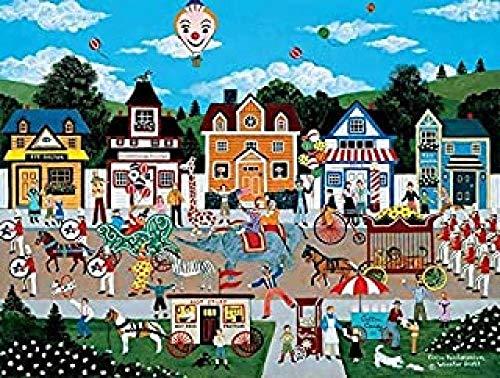 WOMGD® Cartoon puzzel 1000 stukjes, Dieren bekijken Houten puzzels, Educatief spel Stress Reliever Moeilijk uitdagingsspeelgoed voor kinderen