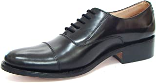 ASM Black Calf Leather Oxford Shoes with Leather Insoles & Fully Leather Lining for Optimum Cushioning. Article No. 107