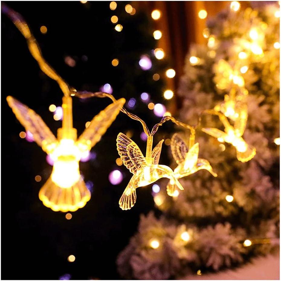 MENGGE Little Hummingbird Led Ranking TOP5 String Max 82% OFF Lights Light Warm Decorati