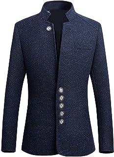 Men's Blazer Blazer Solid Casual Long Sleeve Stand Collar Comfortable Sizes Button Coat Men Fashion