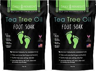 خیساندن پای روغن چای درختی با نمک Epsom - ساخت آمریکا - برای قارچ ناخن پا ، پای ورزشکاران ، بوی خوش بو از پا ، قارچ ، نرم کننده پینه