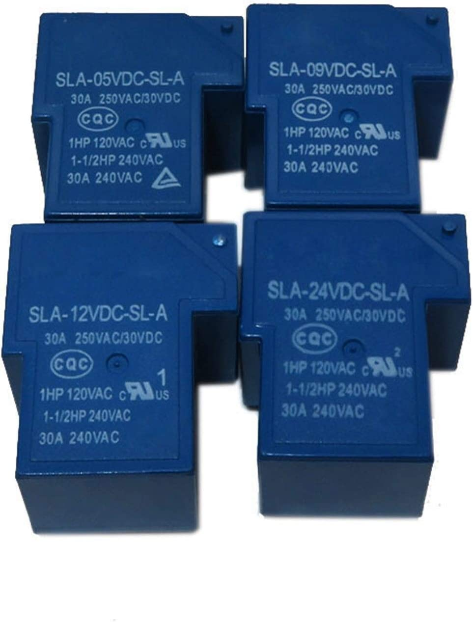 JSJJAES 2 UNIDS Relay SLA-05 09 24 12VDC-SL-A 4PIN 5V 9V 24V 12V SLA-05VDC-SL-A SLA-09VDC-SL-A SLA-12VDC-SL-A (Size : SLA 05VDC SL A 4P)