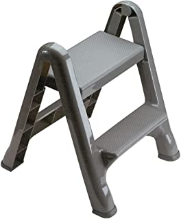 Rubbermaid Commercial Products FG420903 Two-Step Folding Stepstool (300-Pound Load Capacity, 22-7/8-Inches x 21