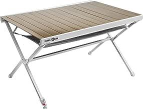Table Camping de Aluminium Brunner roulettes à Table en AR3Ljc54q