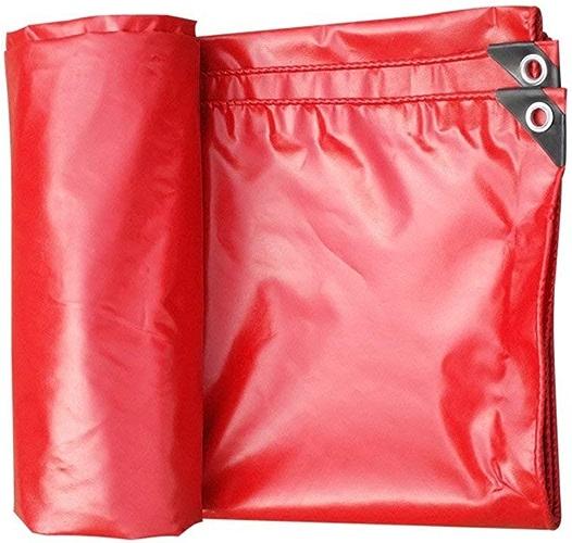 ZHULIAN Bache imperméable Rouge, auvent extérieur épais, Isolation imperméable Super imperméable à la poussière de Toile de Camion - Bache extérieure
