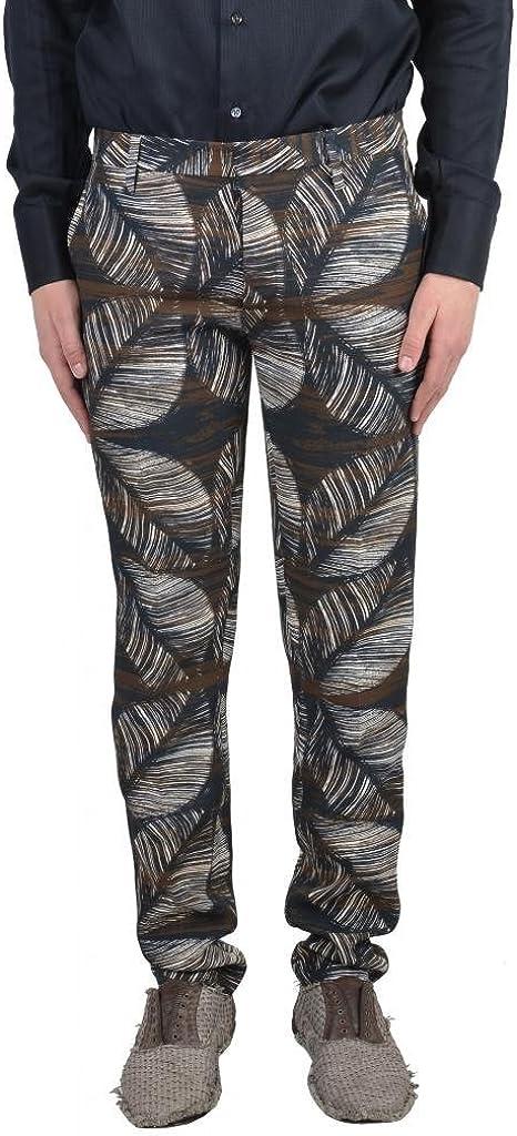 DSQUARED2 Men's Multicolor Linen Casual Pants US 30 IT 46;