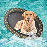 Volwco Dog Pool Floats for Large Dogs, Portable Dog Swimming Pool Toy for Pool Float Inflatable Raft Pet Swim Pool for Small Puppies and Adults Cool Down in Summer Doggy Fun 55'' x 35'' (Grey)