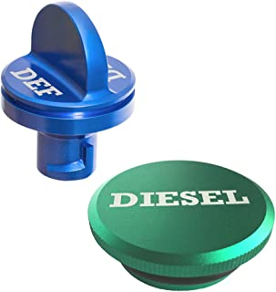 Ronin Factory Combo Pack - Magnetic Diesel Fuel Cap & DEF Cap for Dodge RAM Trucks (2013-2018), The Original Lightweight Design