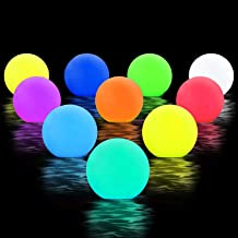 Chakev Floating Pool Lights, 16 Colors Pond LED Ball Lights with Remote Control,..
