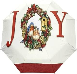 Bluebird Joy Compact Travel Umbrella,Windproof, Reinforced Canopy,3 Folds Auto Open/Close Anti-UV Umbrella