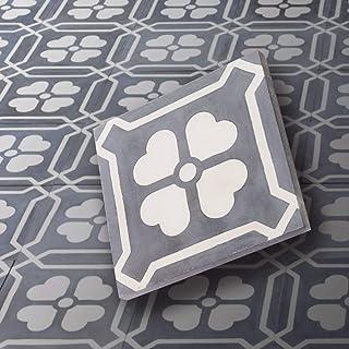 comprar comparacion BodenMax CT202016CM305 Lote de 8 baldosas de cemento – Baldosas de cemento para pisos, mosaicos, revestimientos, paredes. ...