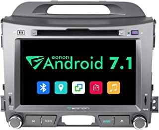 Android Car Stereo,Eonon GA8200 Android Head Unit Applicable to KIA Sportage Series 3 Android 7. 1 GPS Navigation System with 8 Inch HD Digital Touch Screen Quad-core with WiFi