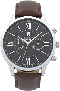 Bevilles Roberto Carati Kobe Brown Leather Watch Model AR750IPS1 Leather,Stainless Steel