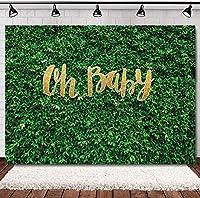 7X5FTああベビーグリーンの葉の背景生まれた少年少女シャワー写真撮影の背景妊娠のお祝い誕生日パーティーの背景ケーキテーブル装飾バナー写真スタジオ小道具11842