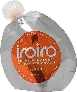 IROIRO Premium Natural Semi-Permanent Hair Color 80 Orange (8oz)