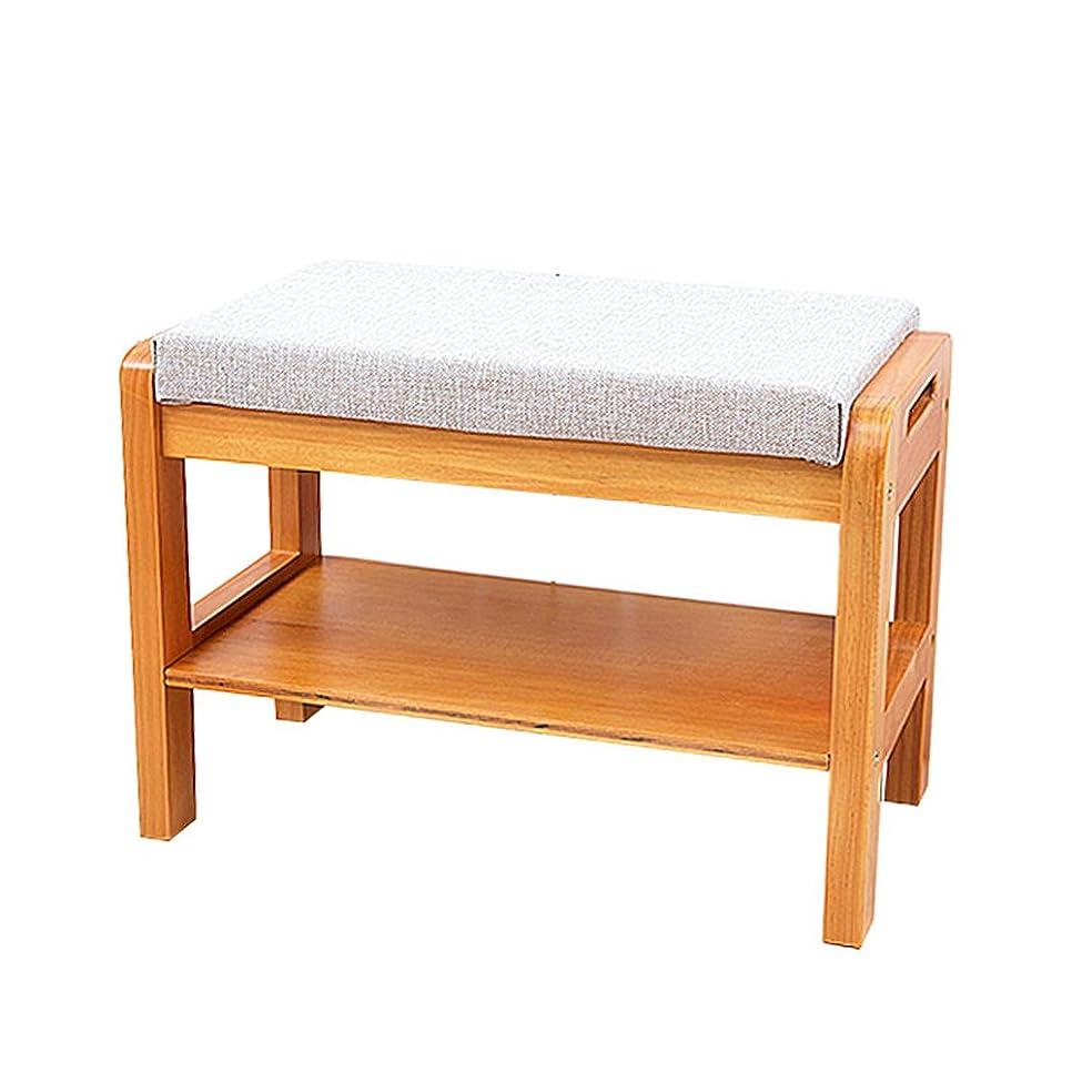 銀行定数悲しむZhi lian& 床置き式木製シューズラックホーム多機能シューズベンチラックリムーバブルデザインマルチカラーオプション55.6x29.5x38cm (Color : Beige)