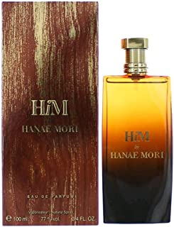 Hanae Mori Him EDP Spray for Men, 3.4 Ounce
