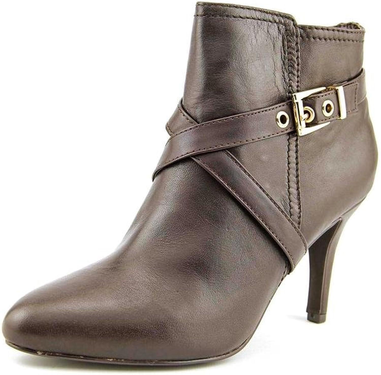 Alfani Womens Zapa Leather Ankle Booties