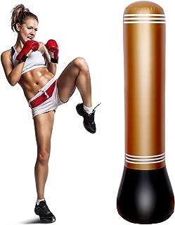 WDV Nadmuchiwana, wolnostojąca torba bokserska z pompką powietrza do stóp nadmuchiwana fitness trening bokserski torba na ...