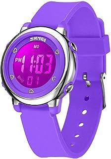 WUTONYU(TM) Children Digital Watch Kids Boy Girls LED Alarm Stopwatch Waterproof Wristwatches