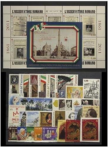 Goldhahn Vatikan 2011 postfrisch  Nr. 1690-1730 Block 35 Briefmarken für Sammler