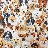 Werthers Stoffe Stoff Meterware Baumwolle Dekostoff Hund