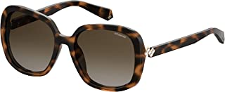 Polaroid Sunglasses Women's Pld 4064/f/s/x Polarized Square Sunglasses, Dark Havana, 57 mm