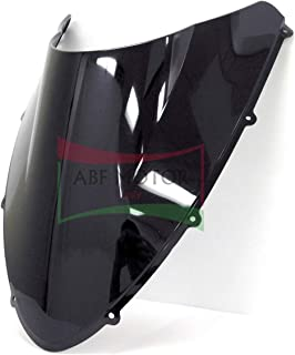 Protek ABS Plastic Injection Black Smoke Double Bubble Transparent Windscreen Windshield for 2007 2008 2009 2010 2011 2012 2013 Ducati 848 EVO 1098 1198 S R SP RTB