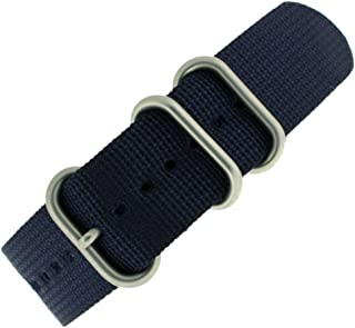 Watch Band Nylon One Piece Military Sport Navy Heavy Stainless Buckle 18 Millimeter