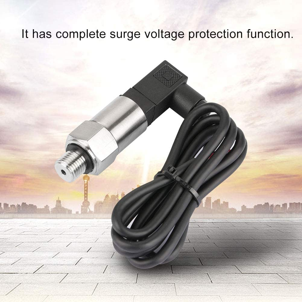 0-1MPA Hancend Pressure Transducer-4-20mA Output G1//4 Silicon Pressure Transmitter Transducer for Water Gas Oil