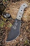 Tom Brown Tracker, Gray Micarta Handle, Black Blade, Kydex Model TBT-010