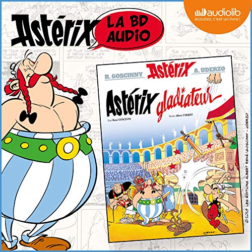 Astérix Gladiateur audiobook cover art