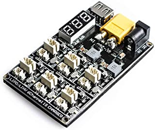 AKK 1S LiPo LiHV Battery Charge Board Micro JST 1.25 and JST-PH 2.0 2-6S Input LiPo Battery Drone Charger for Blade Inductrix Tiny Whoop