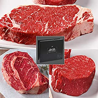 Ultimate Gift-Boxed USDA Prime Steak Set with 3 exceptional Cuts from Kansas City Steaks. A hard-to-find gift for true steak lovers