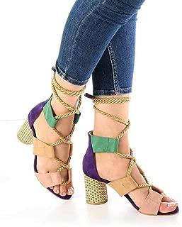Sienna Mor Süet Urgan Bağcık Topuklu Kadın Ayakkabı