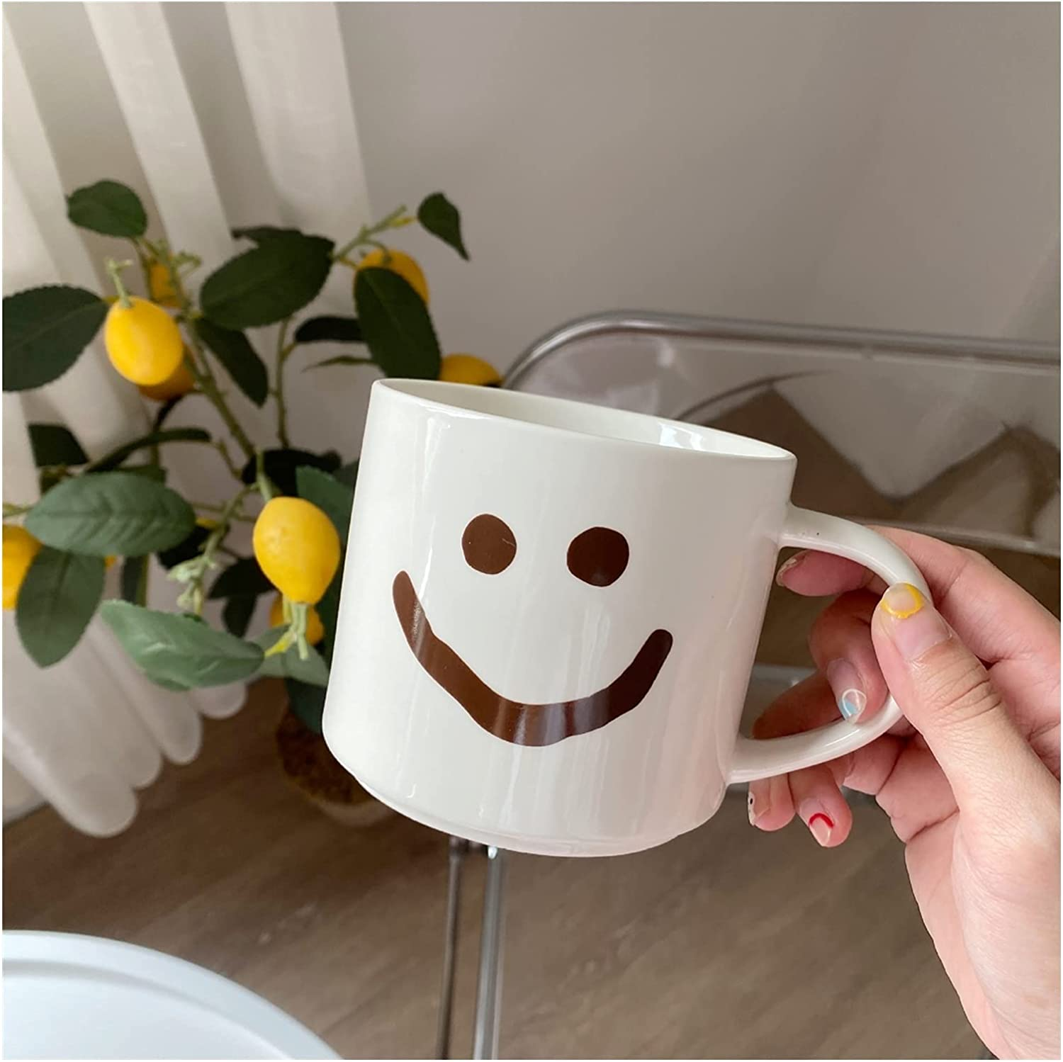 Coffee cups Now on sale 2 pcs water Translated cup coupl mug ceramic large-capacity
