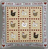 HS bordar/cruz con diseño de velas variadas Kit para coser cojín - en relieve de pollo en relieve de pollo gallina
