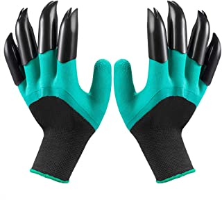 Garden Genie Gloves with Claws(2019 Upgrade), Waterproof and Breathable Garden Gloves for Digging Planting, Best Gardening Gifts for Women and Men (Green Claw 1 Pairs)