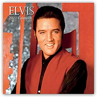2020 Elvis Presley Wall Calendar, 12 x 24 inch Monthly Calendar, 16-Month
