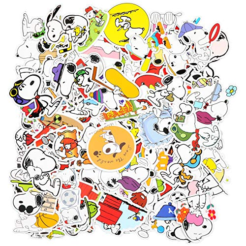 EKKONG Aufkleber, 100 Stück Netter Snoopy Aufkleber für Kinder, Dekorative Wasserdicht Vinyl VSCO Stickers Graffitti Decals für Auto Motorräd Fahrrad Skateboard Snowboard Gepäck Laptop Pad (Snoopy)