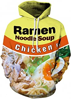 Men Hoodies with Cap Print Beef Ramen Hooded 3D Sweatshirt Hoody Tracksuit
