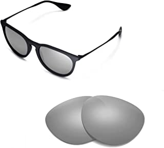 Walleva Replacement Lenses for Ray-Ban Erika RB4171 54mm Sunglasses - Multiple Options