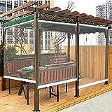 XIAOLIN Outdoor-Rollos, 0,5 Mm Dickes Weiches Wasserdichtes Gewebe, Pavillon-Terrassentrennvorhänge, Wasserdicht, Ölbeständig, Leicht Zu Reinigen (Color : Clear, Size : W70xL140cm)